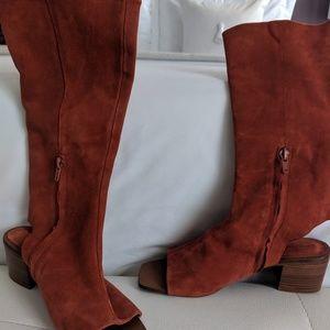 Zara peep toe boots